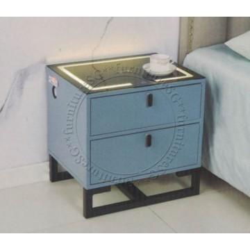 Smart Bedside Table (Multi Function) - Blue
