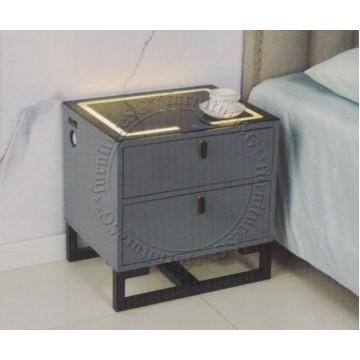 Smart Bedside Table (Multi Function) - Grey