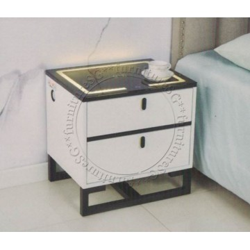 Smart Bedside Table (Multi Function) - White