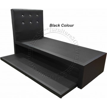 Bronx 2 in 1 Faux Leather Bedframe (Single) (5 Colours Available)