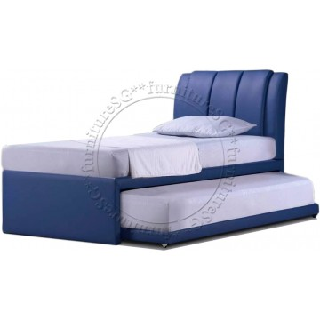 Robinson 2 in 1 Faux Leather Bedframe (Single)