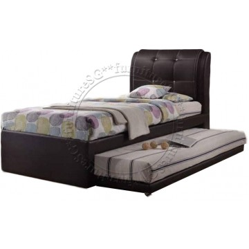 Spencer 2 in 1 Faux Leather Bedframe (Single)