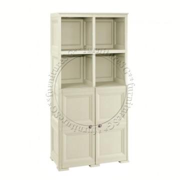 Tontarelli - 2 Open Shelves + 2 Door Cabinet Tall Unit