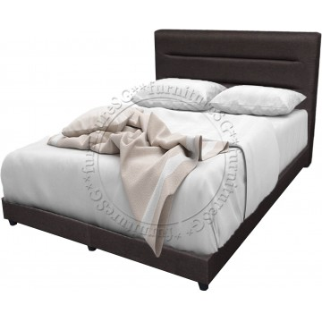 Queen Size Titan Fabric Bedframe and Spring Mattress