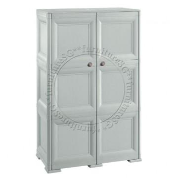 Tontarelli - Shoe Cabinet 12 Shelves + 6 Side Pockets 2 Doors