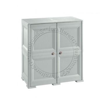 Tontarelli - Shoe Cabinet 8 Shelves + 4 Side Pockets 2 Door