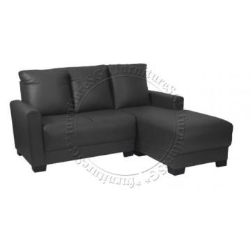 Clement L-Shape Sofa (Dark Grey)