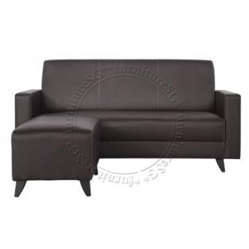 Zoey 3-Seater Sofa + Stool