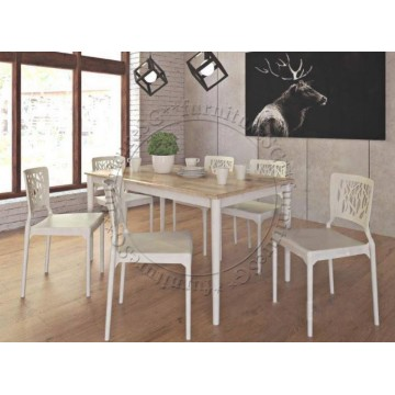 Jenson Dining Table and Chairs set (White)
