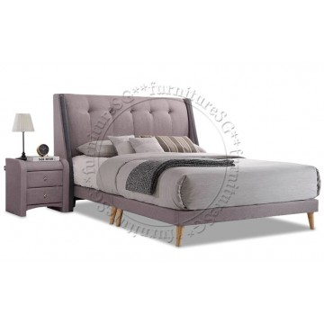 Victoria Fabric Bedframe with Side Table