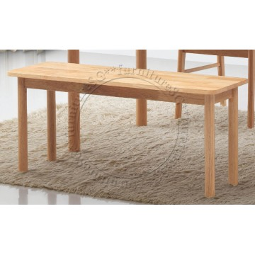 Solid Rubber Wood Dining Bench