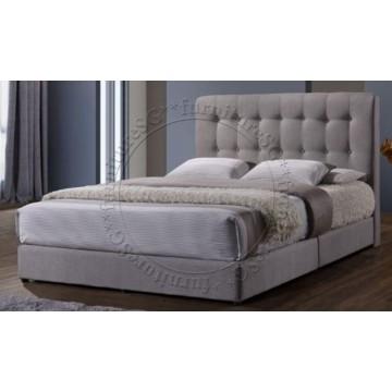 Skye Fabric Bedframe - Light Grey
