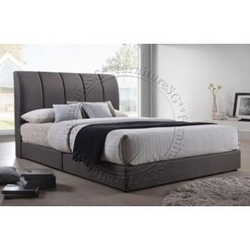 Enzo Fabric Bedframe - Dark Grey