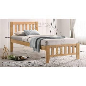 Pauline Wooden Bed