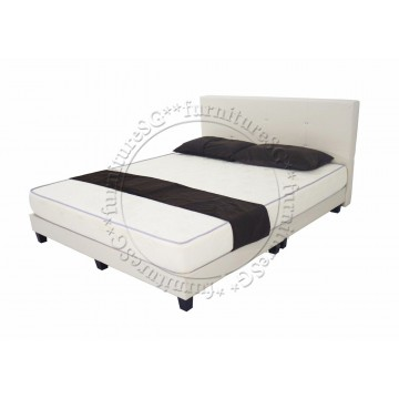 Faux Leather Bed and 8 inches Spring Mattress