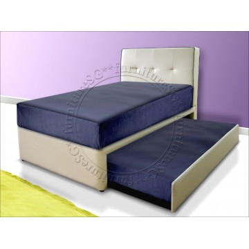 2 in 1 Faux Leather Bed 1004