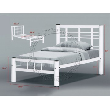 Metal Bed MB1012 (White)