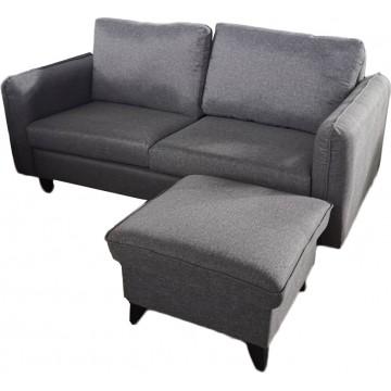Alana 2-Seater Fabric Sofa with Stool