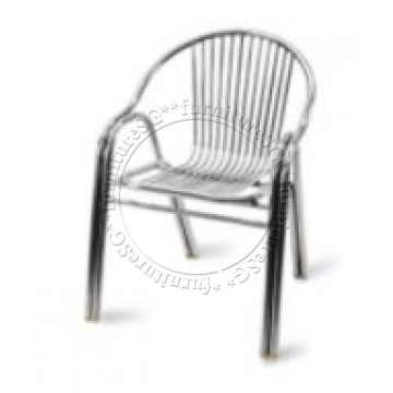 Aluminium Chair (Double Tube) Set of 2