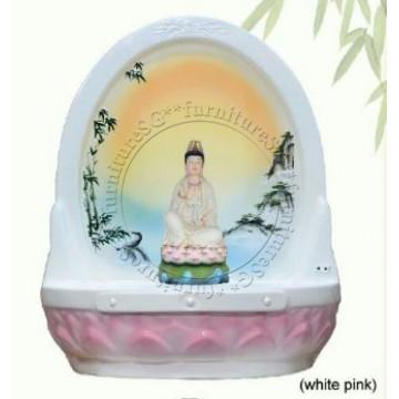 Lotus Altar Table 莲花神台 - U19 (White Pink)