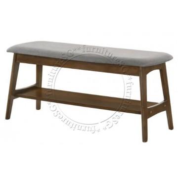Bellini Fabric Cushion Dining Bench (Grey)