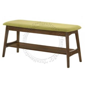 Bellini Fabric Cushion Dining Bench (Green)