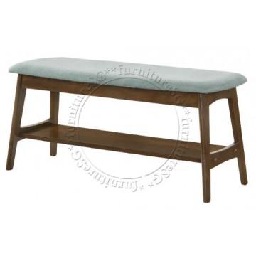 Bellini Fabric Cushion Dining Bench (Blue)