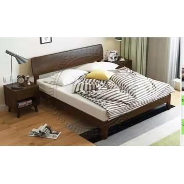Essex Soild Wooden Bed ( (Queen/King)) - Dark Brown