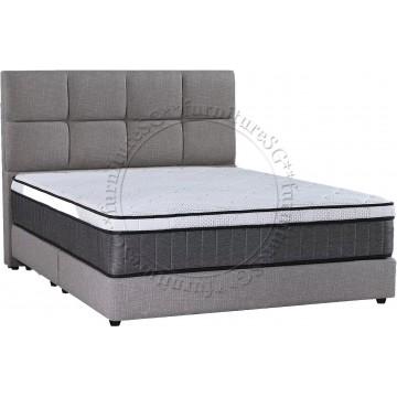 Geraldine Fabric Bedframe (Dark Grey)