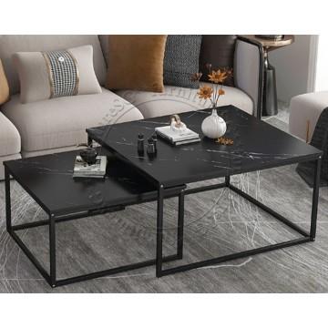 Alfa Coffee Table-  Black Marble Laminate Top