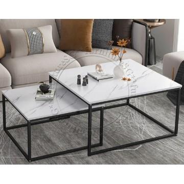 Alfa Coffee Table- White Marble Laminate Top