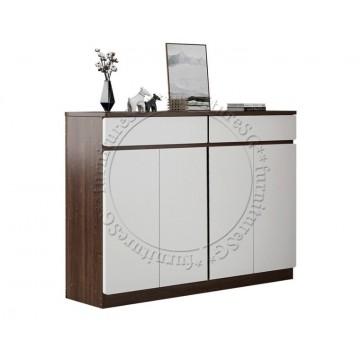 Fraser Shoe cabinet (120cm/140cm) - Dark Brown