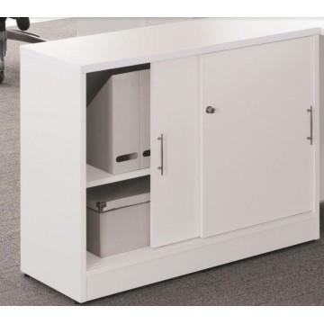 Sliding Door Cabinet (White)