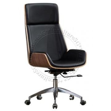Heeren Office Chair - Black/Wood