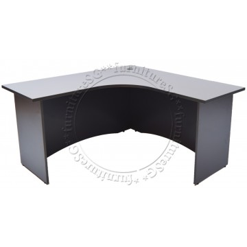 Grey L-Shaped Writing Table