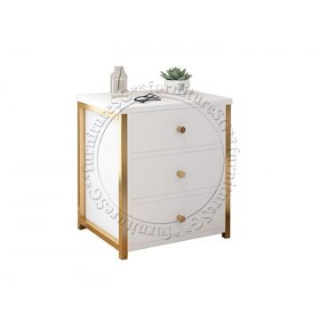 Amelia Bedside Table (White)