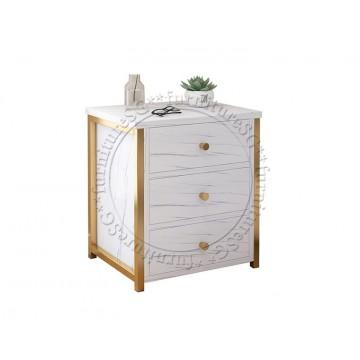 Amelia Bedside Table (Marble Print)
