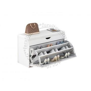 Shoe Cabinet cum Bench 60cm (White)