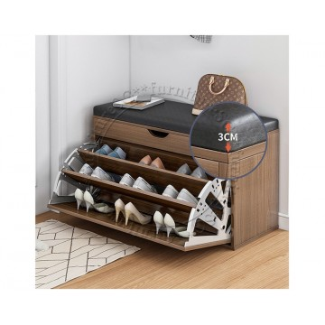 Shoe Cabinet cum Bench 60cm (Brown)