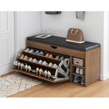 Shoe Cabinet cum Bench 80cm (Brown)