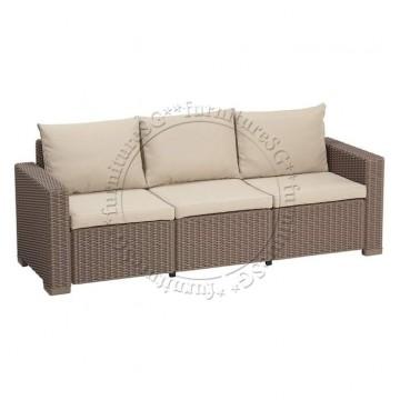 Allibert - California 3 Seater Sofa Cappuccino