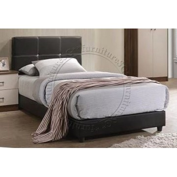 William Faux Leather Bed - Single