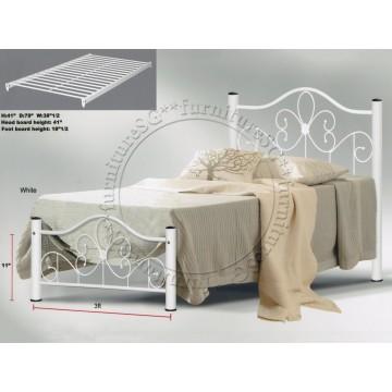 Metal Bed MB1045 (White)