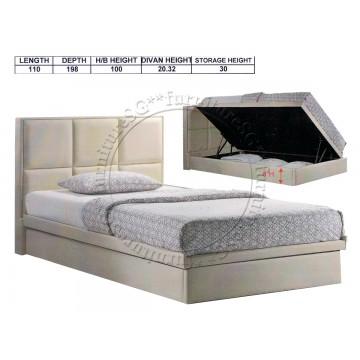 Faux Leather Storage Bed LB1051 (Super Single)