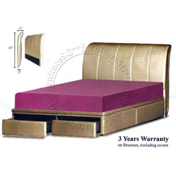 Faux Leather Princebed Storage Bed Napolean LB1053