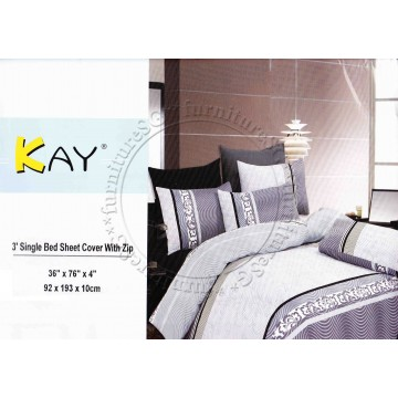 Single Bed Sheet Cover with Zip