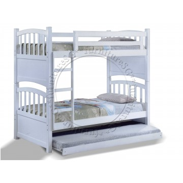 Double Deck Bunk Bed DD1053 (Available white colour)