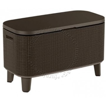 Keter - Bevy Bar Cooler Box and Side Table Brown