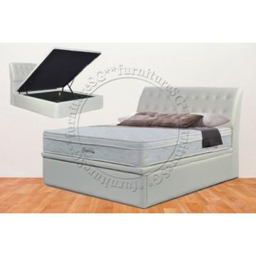 Faux Leather Storage Bed LB1081 - Mattress Bundle