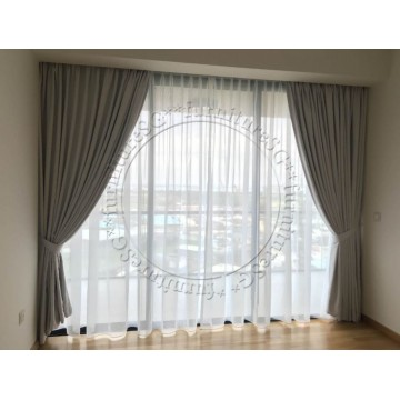 Day and Night Curtains Package (100% Blackout Layer)